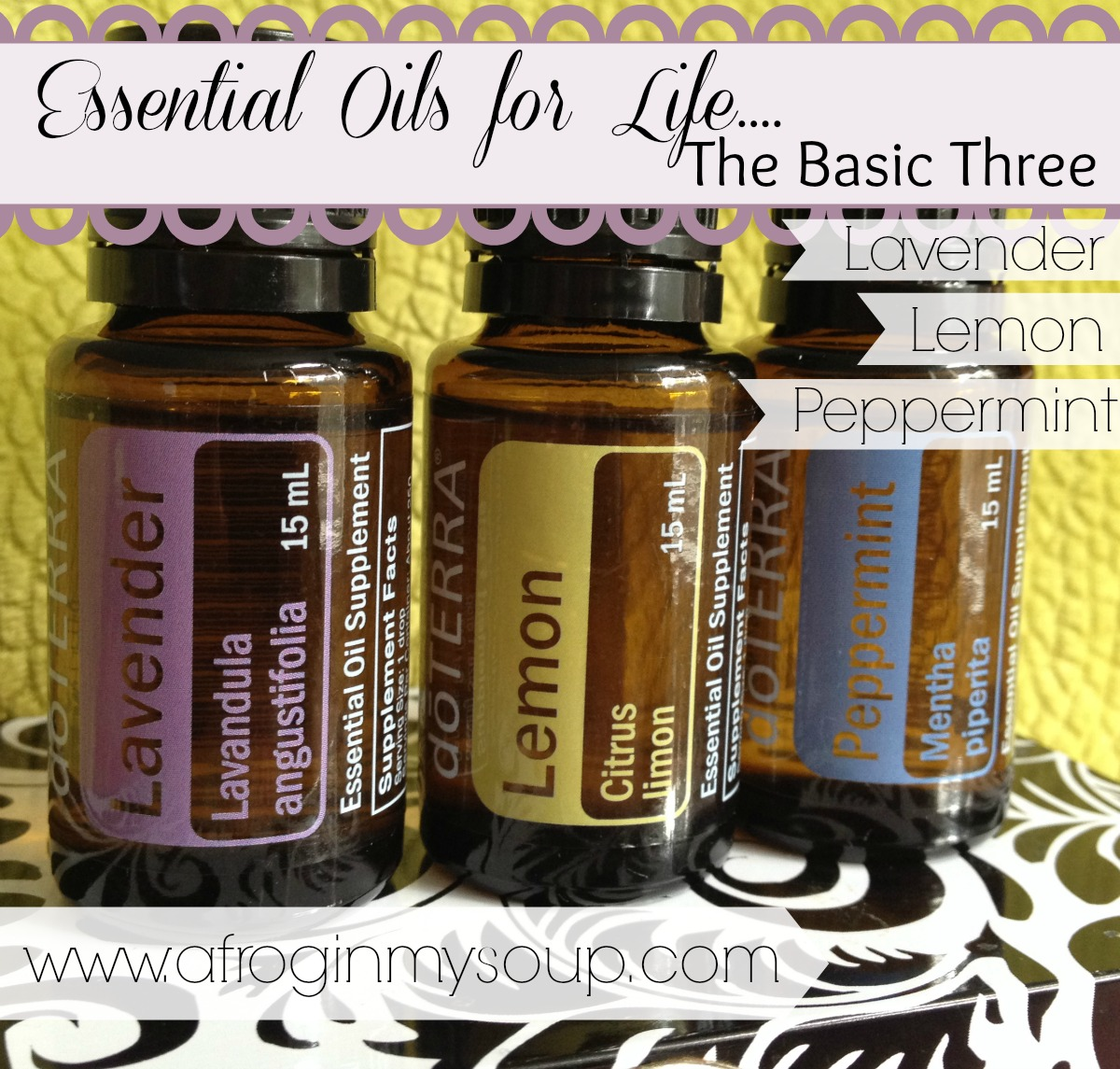 Essential Oils for Life: the Basic Three